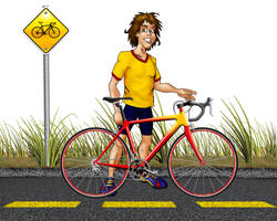 Cyclist mascot by Dom-Graphcom