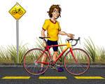 Cyclist mascot