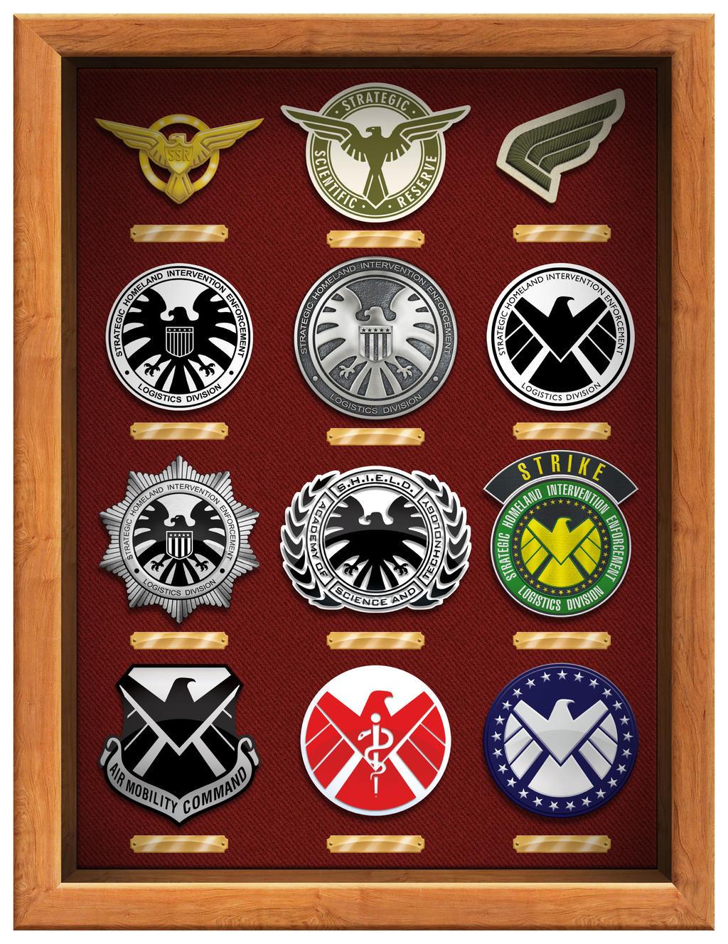 Marvel SHIELD logos by Dom-Graphcom