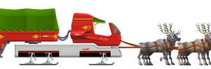 Santa's sleigh by DomGraphcom by Dom-Graphcom