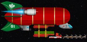 Santa's sleigh refueling by Domgraphcom by Dom-Graphcom