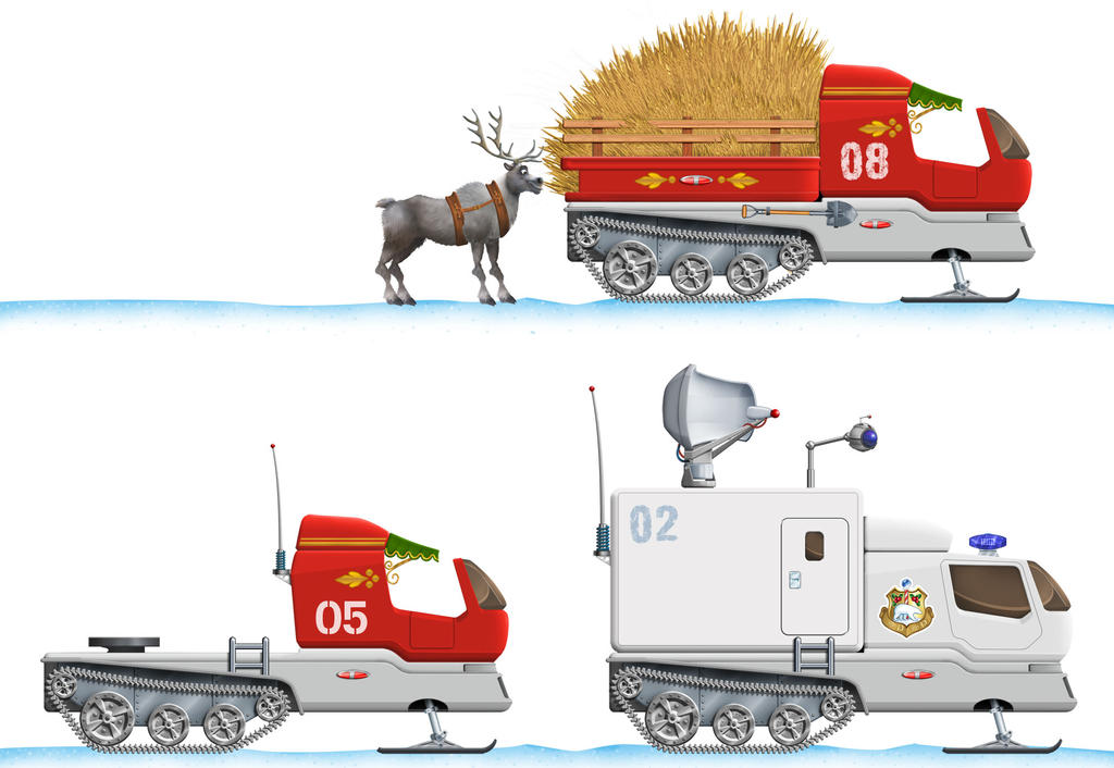 North-Pole-ground-service-vehicles-by-DomGraphCom by Dom-Graphcom