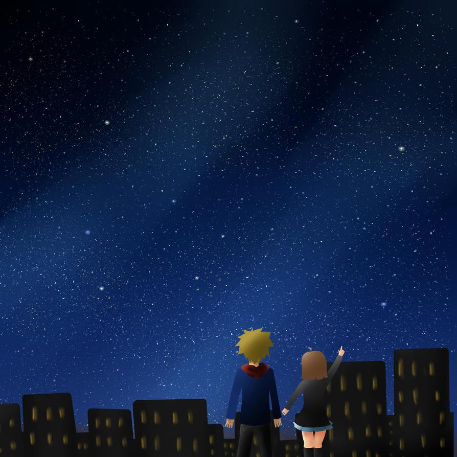 Night Sky By Anime-Lover010 On DeviantArt