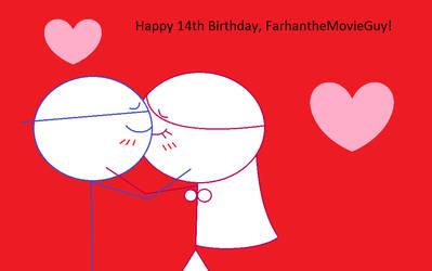 Happy 14th Birthday, FarhantheMovieGuy! by SweetBitty05