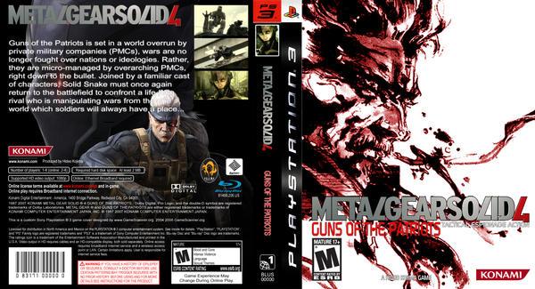 Metal Gear Solid 4 custom box by GameScanner