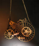 Winged penny-farthing