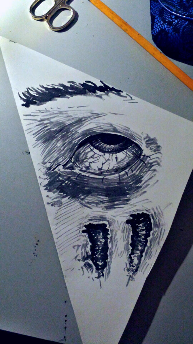 Scared eye by XoXeL-V