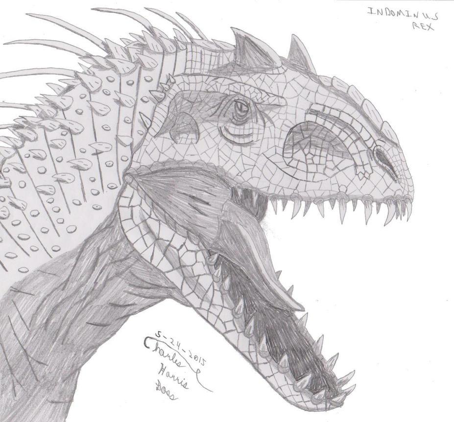 indominus sketch by theonetruesircharles on deviantart