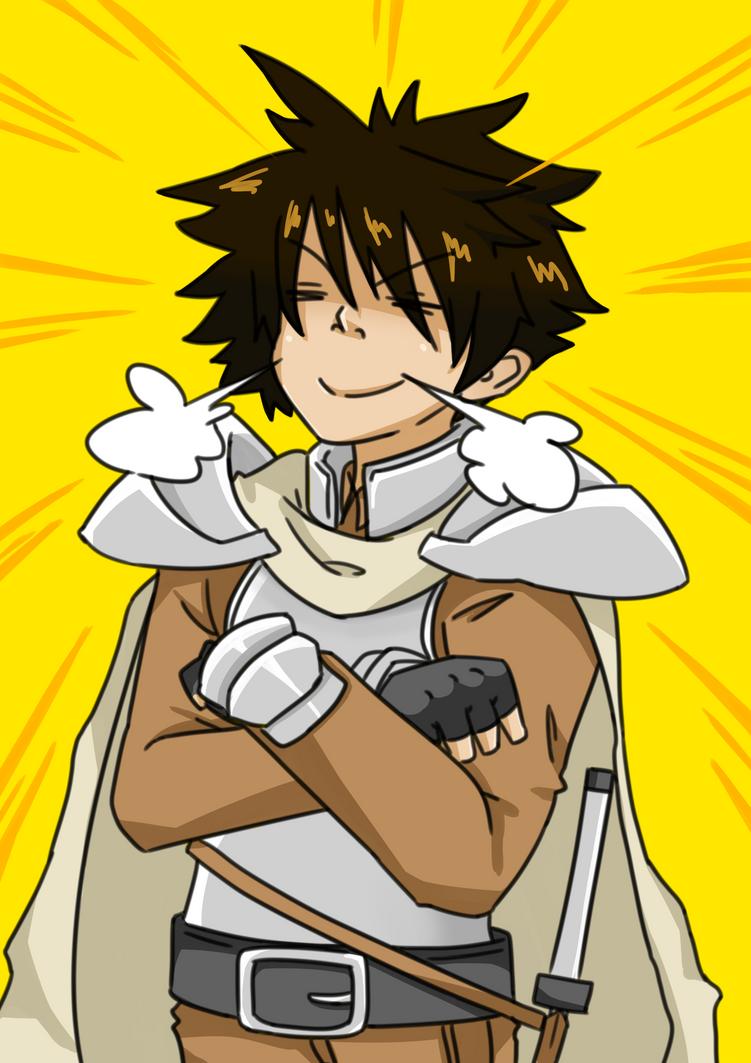 Proud swordsman (colored) by Kurenoax