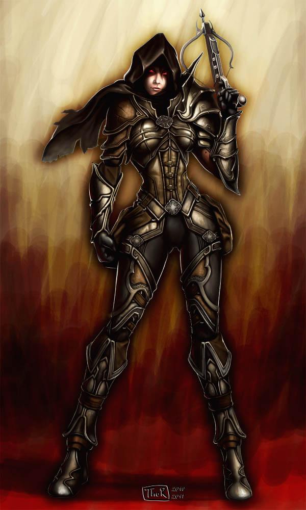 Demon Hunter --- Diablo 3 by EvilFlesh