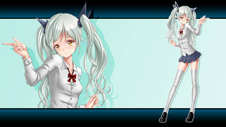 Wallpaper Cute Char 1920 x 1080 by EvilFlesh