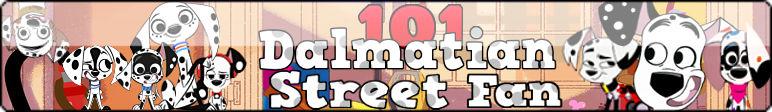 101 Dalmatian Street Fan Button