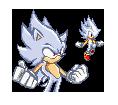 Hyper Sonic Sprite by ShaxiSakato