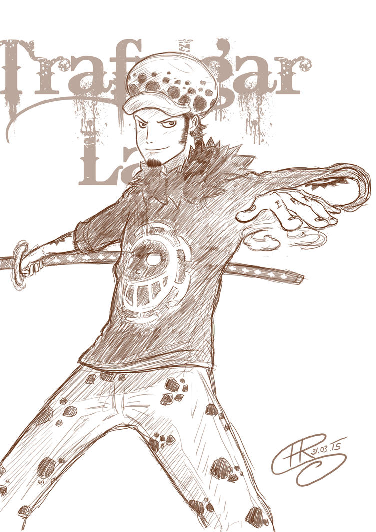 Sketch Trafalgar Law by Ren10sei