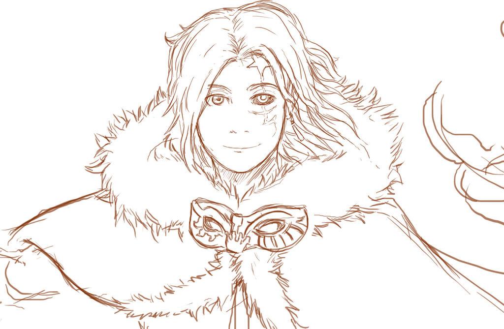 Sketch - Allen Walker by Ren10sei