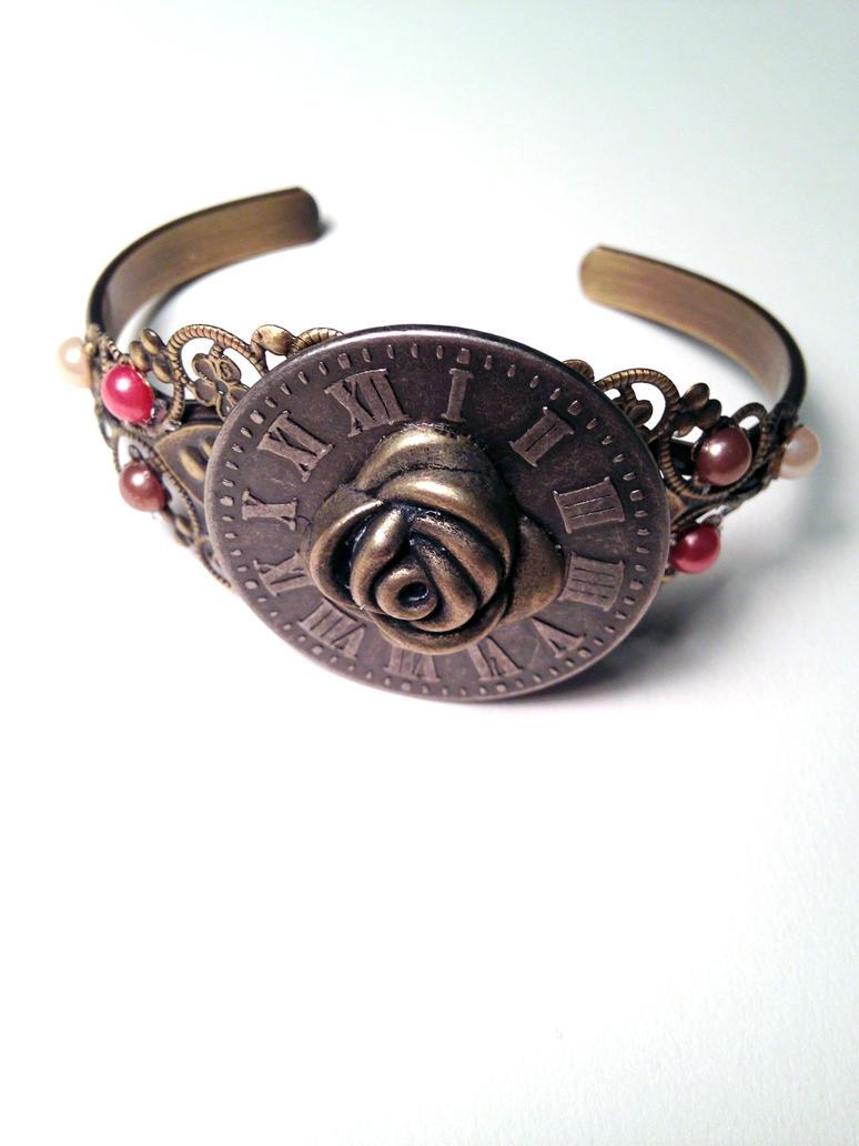 Steampunk Elegant Cuff Bracelet by angelmarlo