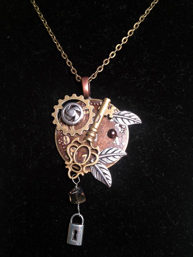 Steampunk Necklace by angelmarlo
