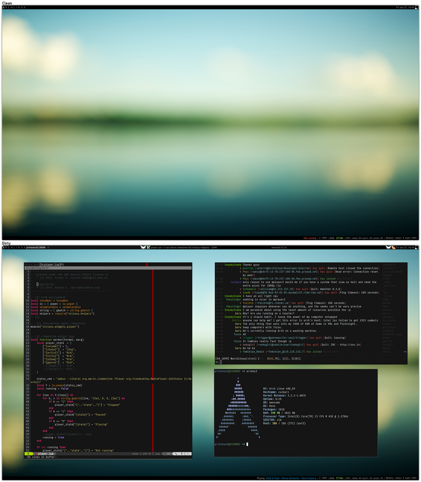 Awesome Archlinux by printesoi
