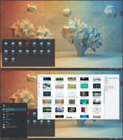 Low Poly ArchLinux KDE 5 by printesoi