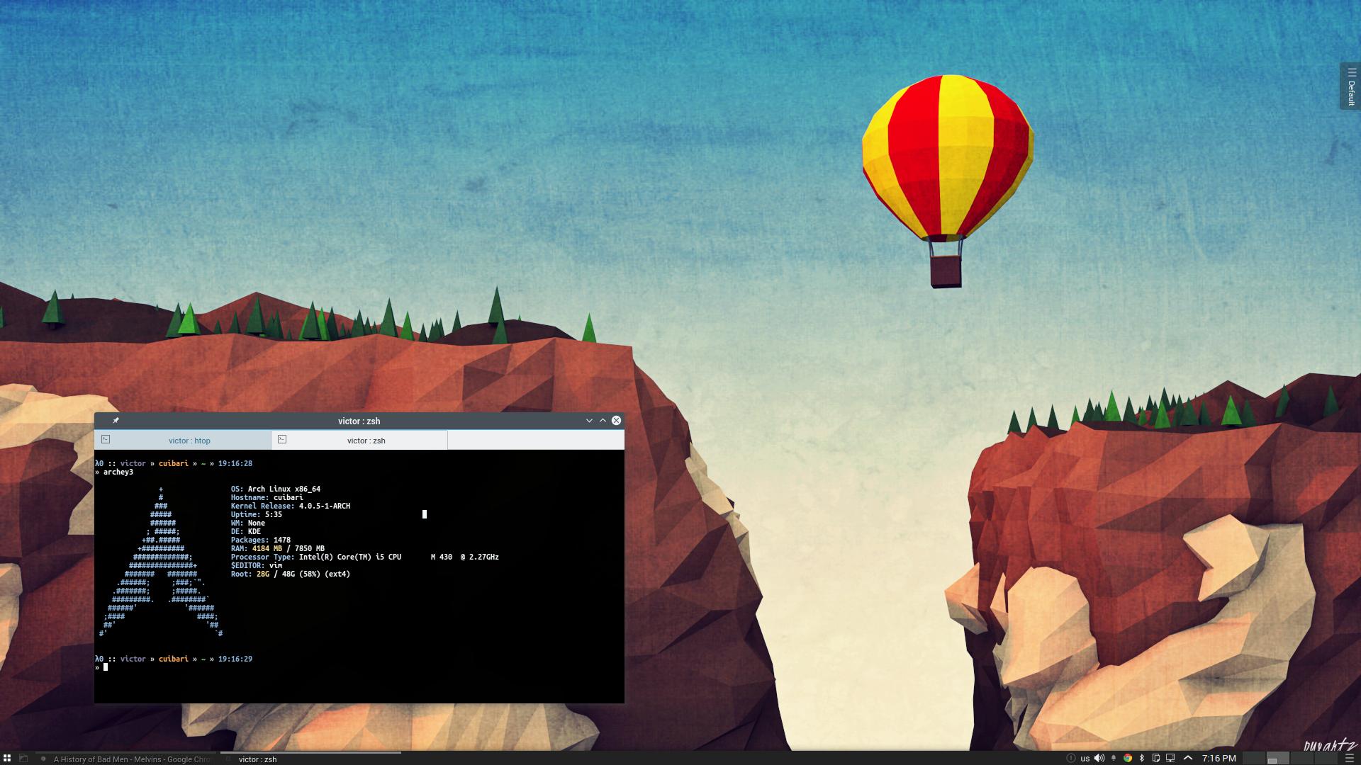 Balon Arch Linux KDE 5 by printesoi on DeviantArt