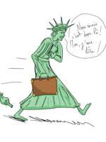 Liberty leaving the USA