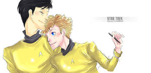 Request- Sulu and Chekov by Mkb-Diapason