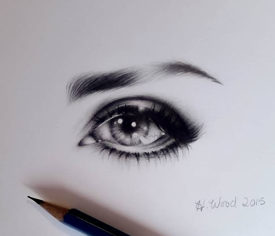 Eye Drawing by heatherw290