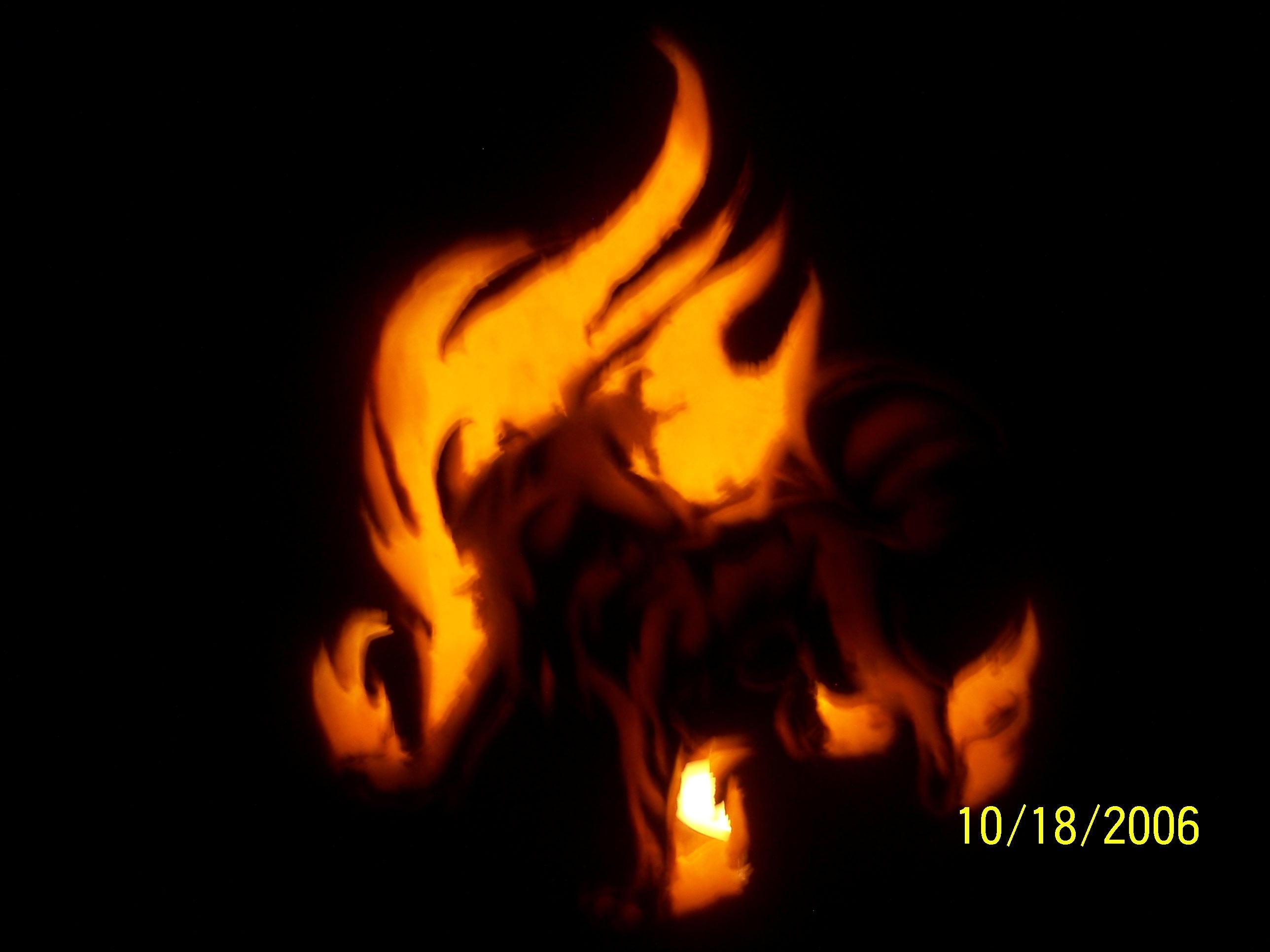 Flamewolf pumpkin dark by plushunicorn on deviantart