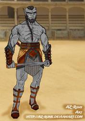 Grignak ~ Palladium: Troll, Shaman by AZ-RUNE