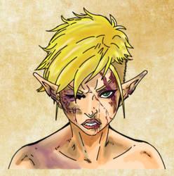 Nara: Abused, Damaged, Raped Elven Priestess by AZ-RUNE