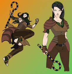 Caminata: Palladium Elf Druid Priestess by AZ-RUNE