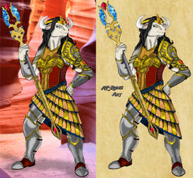 Laval'liere - Paladin of Isis by AZ-RUNE