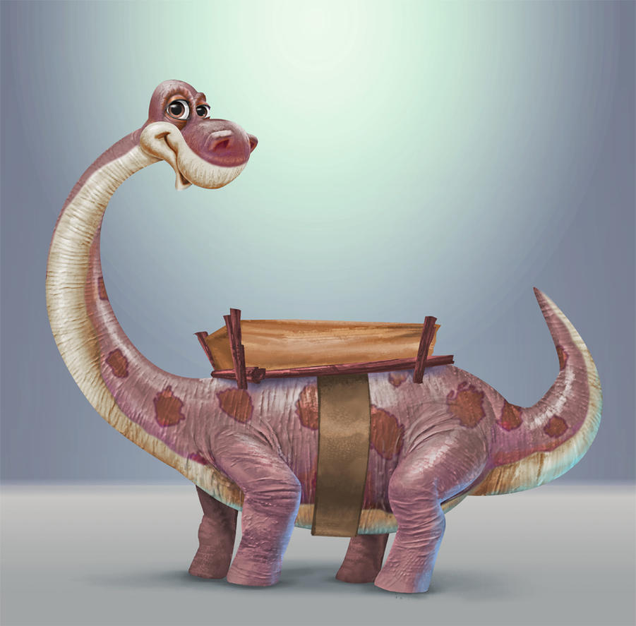 Brontosaurus taxi cab by BobMacNeil