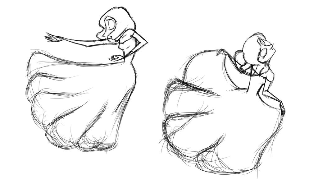 May (ball Gown)-sketch by lilminette on DeviantArt