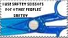 Safety Scissors Stamp by Katttty920