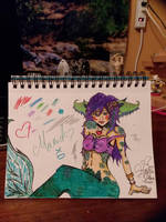 colorful mermaid by ShiraYukiHyo