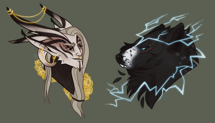 Commissions: Gold and Lightning
