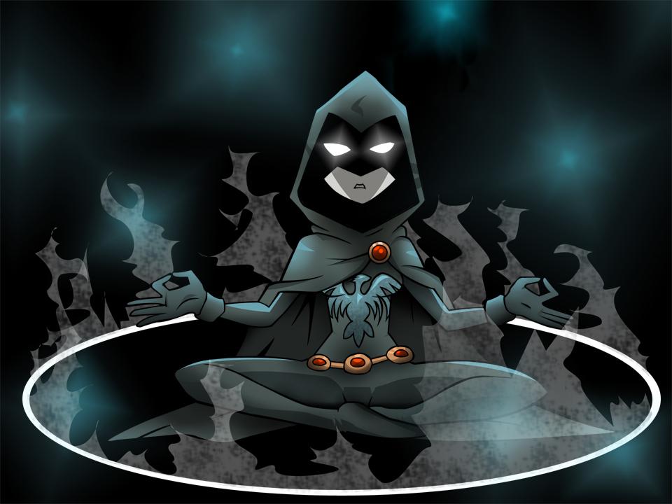 Raven Teen Titans Meditating