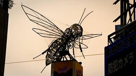 Den-Den Town Giant Metal Bee, Osaka by nostro-fr