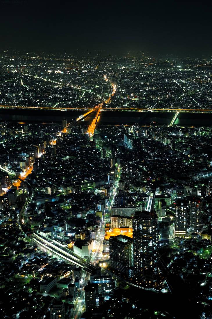 Skytree, Tokyo Night Cityscape