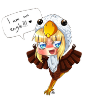 AT: Chibi eagle Zelda by Coco-of-the-Forest