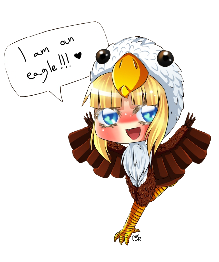At chibi eagle zelda by coco of the forest