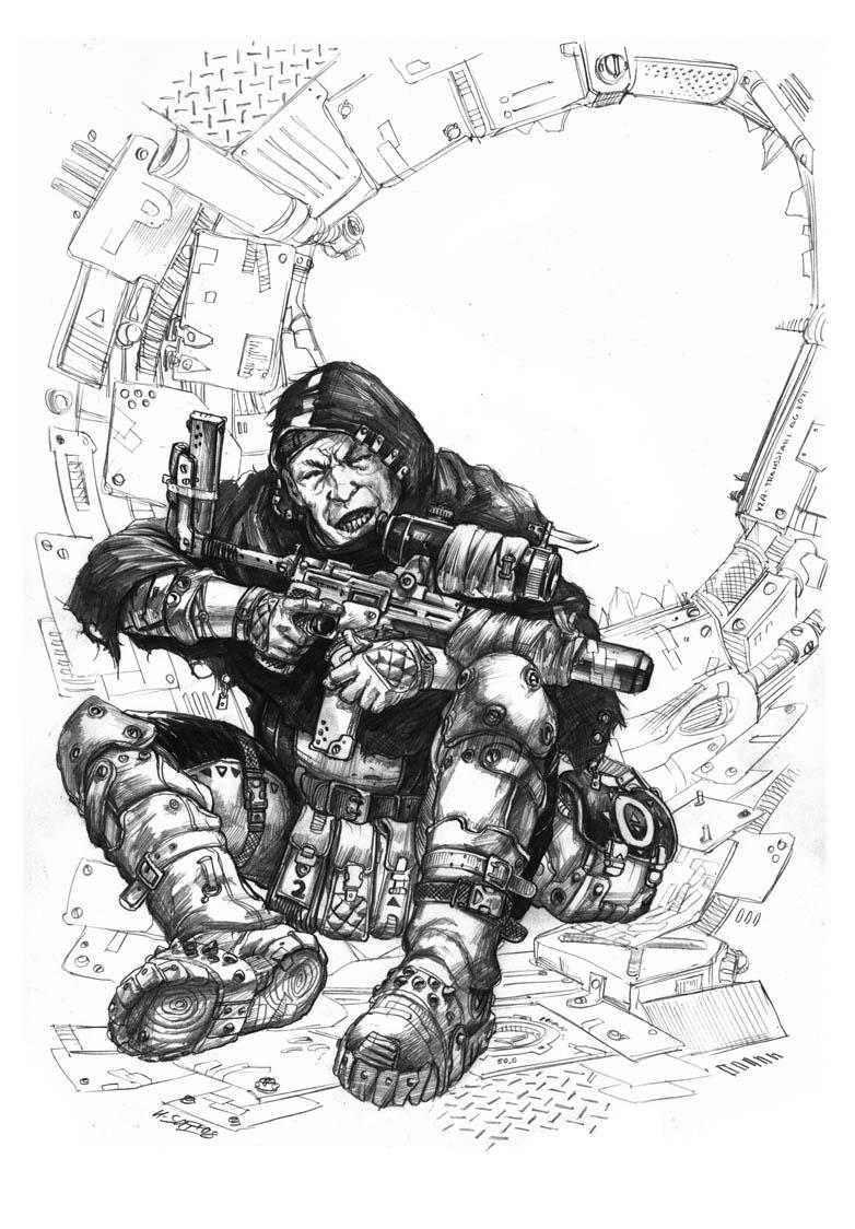 Degenesis Bleicher Sniper by KlausScherwinski