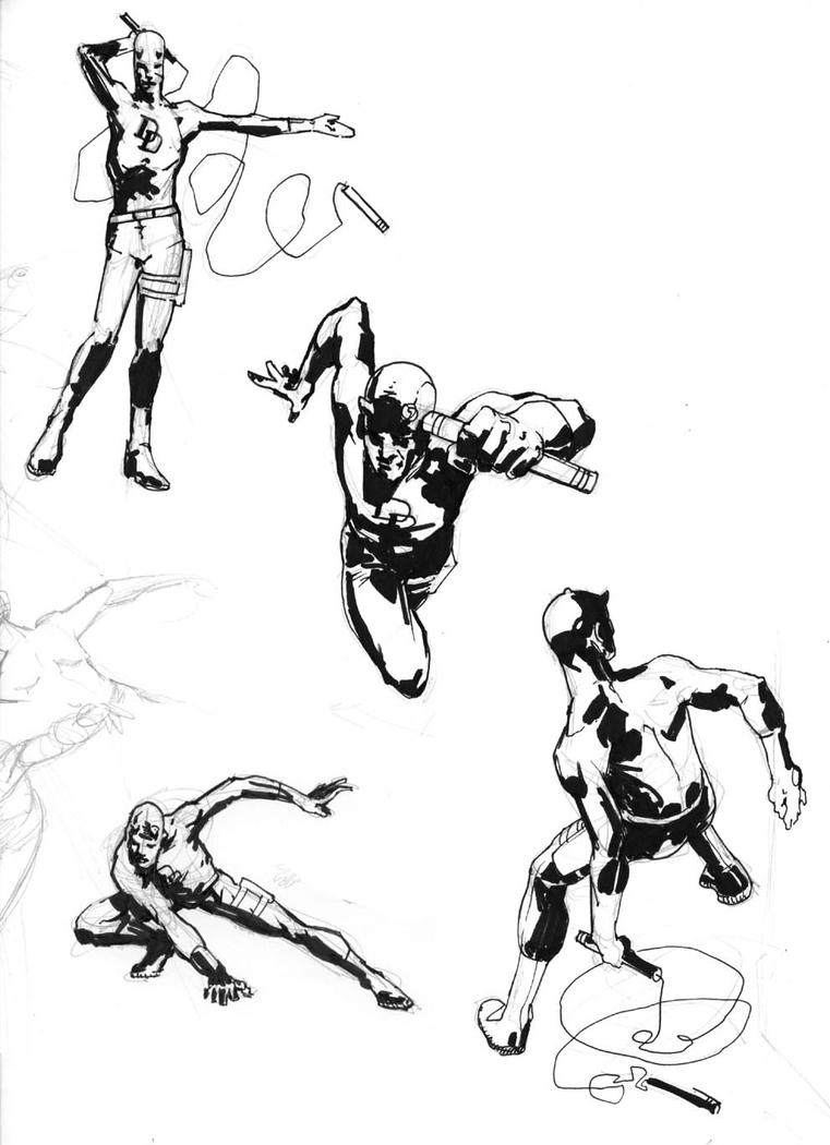 daredevil sketches old by klausscherwinski on deviantart