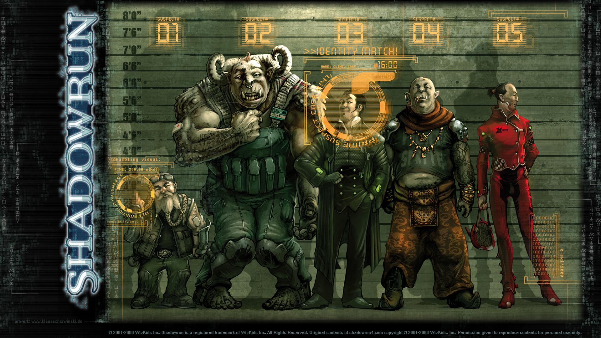 Shadowrun Suspects Wallpaper
