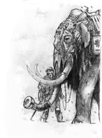 Degenesis Mammoth with Gasmask by KlausScherwinski