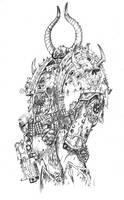Dark Apostle WH 40K Pencils by KlausScherwinski