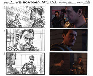 Ryse: Son of Rome storyboard comparison