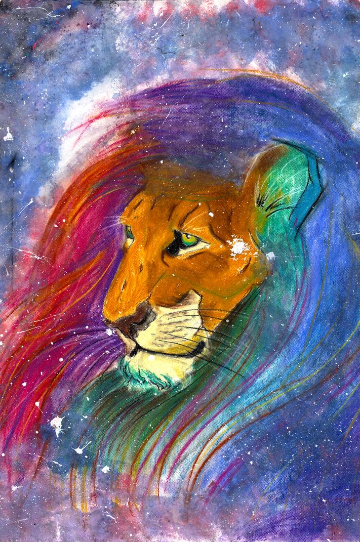 Galaxy Lion by JulieRaven