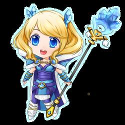 Dota 2: Blueheart Tails Crystal Maiden Chibi by seika